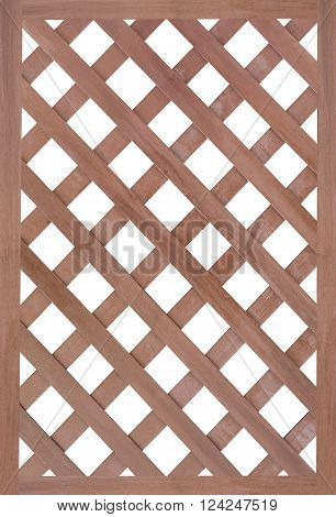 Brown wood fence isolated on white background ** Note: Soft Focus at 100%, best at smaller sizes