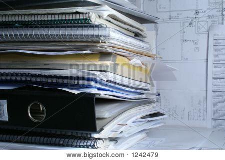 Documentos no escritório