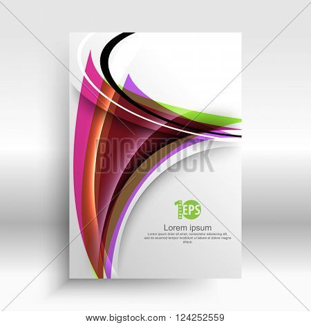 abstract distorted shape geometric elements material business design. eps10 vector