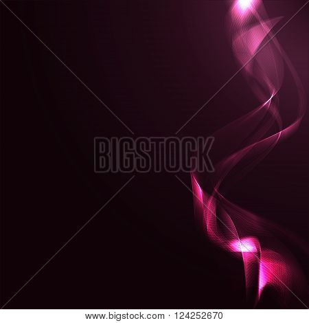 Vector illustration abstract and Crimson wave background