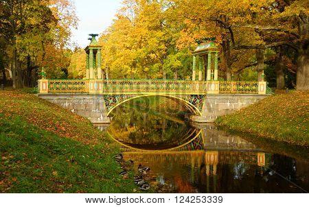 Autumn morning in Alexandrovsky Park in Tsarskoye Selo ** Note: Shallow depth of field