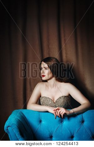 Luxury Woman With Stage Make Up