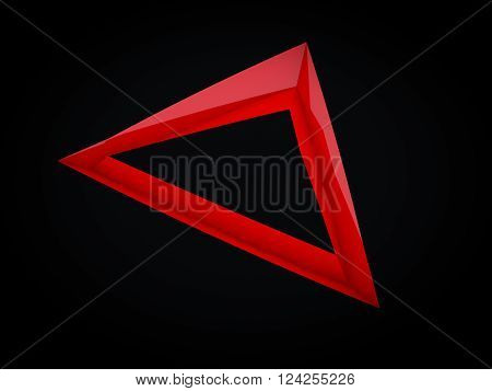 3D rendering of abstract modern abyss shape background