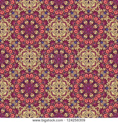 Ethnic seamless pattern. Vector tribal background. Aztec and indian style, vintage tribal print.