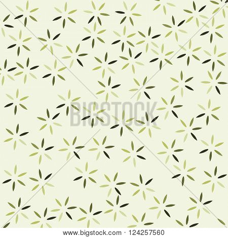 Cherry Blossom flower on yellow background vintage style vector