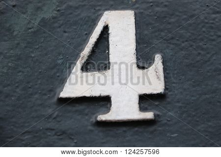 House number 4 in the city of Saint Cloud, France