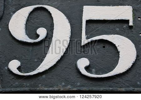 House number 95 in the city of Saint Cloud, France