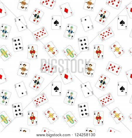 beautiful and original illustration - background - with designer playing cards.