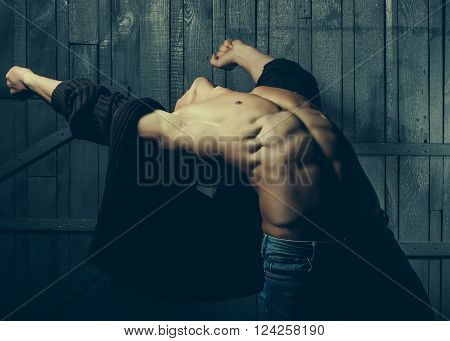 Man With Bare Torso