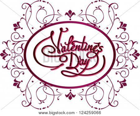 Valentines Day Flyer. Vector illustration EPS10