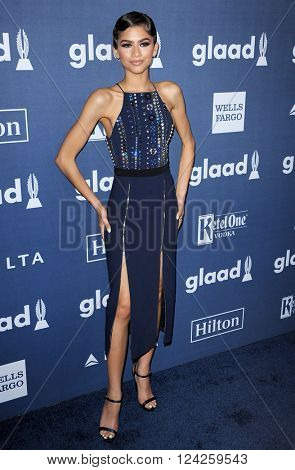Zendaya at the 27th Annual GLAAD Media Awards held at the Beverly Hilton Hotel in Beverly Hills, USA on April 2, 2016.