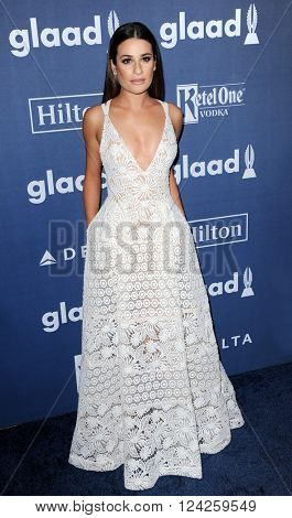 Lea Michele at the 27th Annual GLAAD Media Awards held at the Beverly Hilton Hotel in Beverly Hills, USA on April 2, 2016.