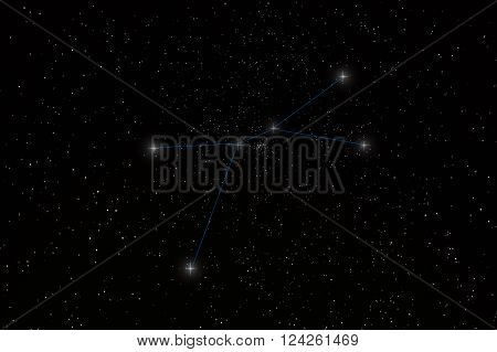 Cancer Constellation with constellation lines 