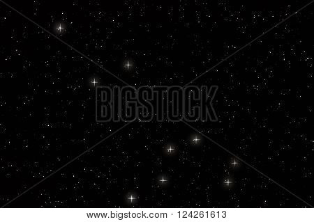Leo Constellation, Lion Constellation with constellation lines