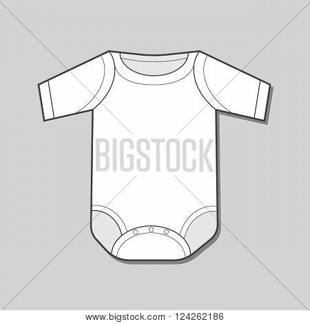 Short Sleeve Infant Bodysuit. 10 eps vector illustration