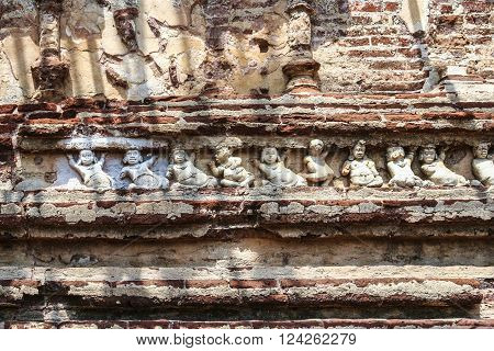 Fresco In The Old Kings Palace In Polonnaruwa