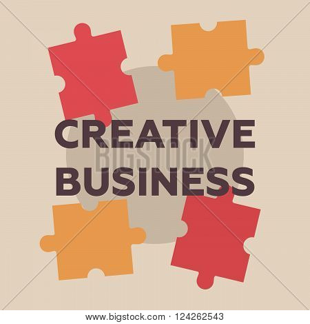 Creative business retro concept. Creative business vector illustration. Creative business logo in flat style. Creative business symbol vintage