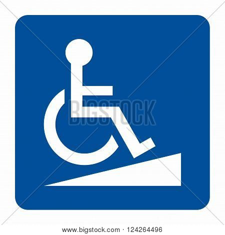 Access ramp sign, access for disabled persons