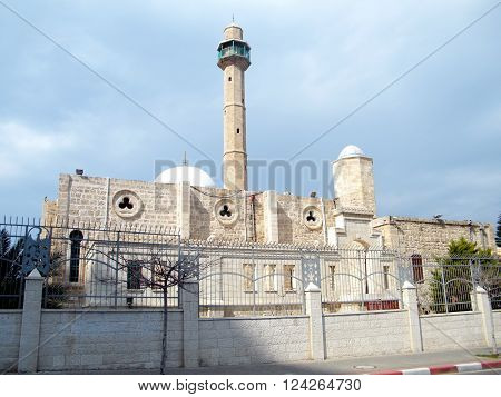 View of Hasan-bey Mosque in Tel Aviv February 2011 Israel