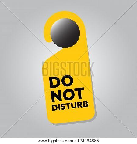 Do Not Disturb Door Sign. 10 eps vector illustration