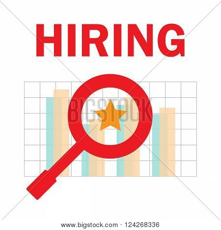 Choosing person for hiring. Job and staff human and recruitment