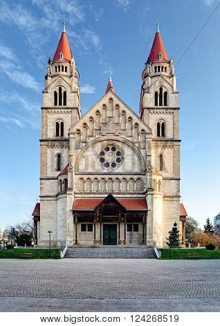 St. Francis of Assisi Church in Vienna Austria.
