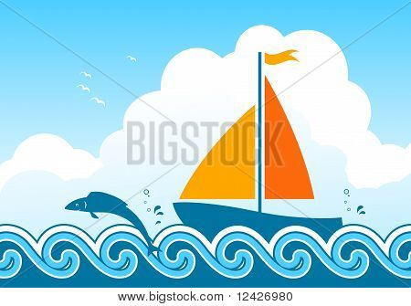 Sailboat And Fish