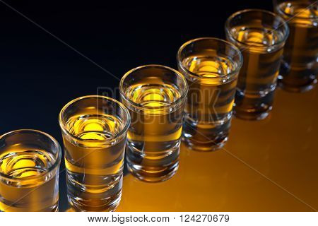 Glasses With An Alcoholic Drink