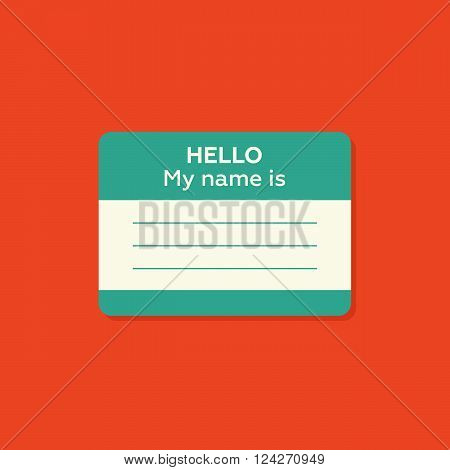 Hello my name is card Label sticker introduce badge welcome