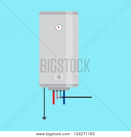 Electric Water Heater. Flat Icon For  Web Design And Application Interface, Also Useful For Infograp
