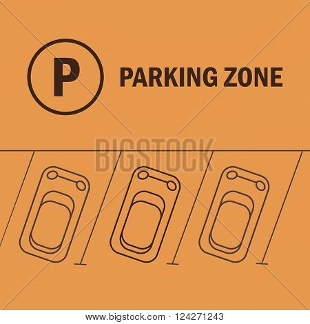 Parking vector illustration. Parking vintage concept. Parking symbol and sign in flat style. Parking logo