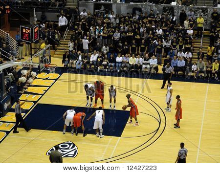 Player Set To Shoot Free Throw