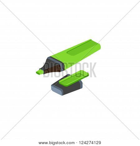Isometric Marker On White Background. For Web Design And Application Interface, Also Useful For Info