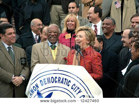 Hillary Clinton at a local Democratic rally in 2005