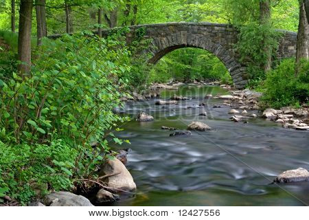 stone bridge over Pocantico River in New York State