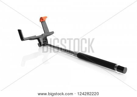 Stick for making photo with mobile phone, isolated on white