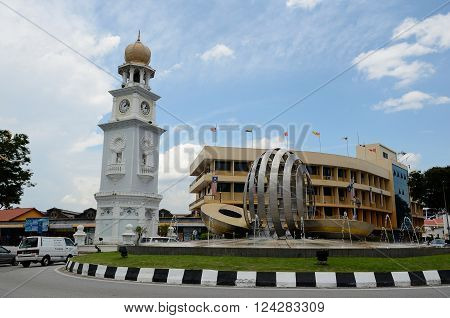 George Town/Malaysia - September 2012: Queen Victoria Memorial Clock Tower in George Town,island Penang, Malaysia
