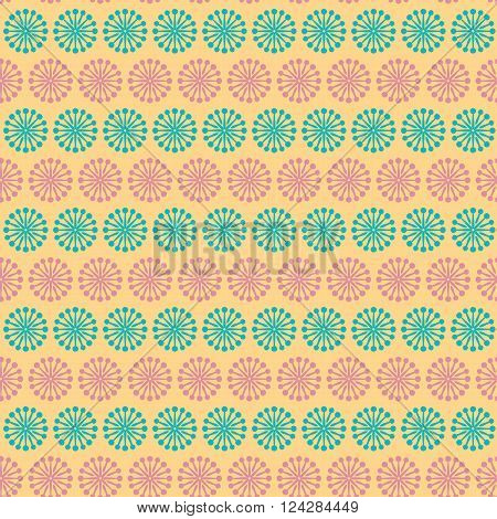 Vintage turquiose seamless pattern. Vector illustration. Endless texture for wallpaper, fill, web page background, surface texture. Shabby geometric ornament.