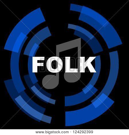 folk music black background simple web icon