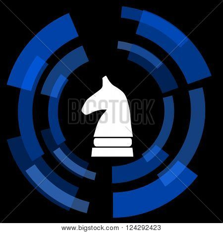 chess horse black background simple web icon
