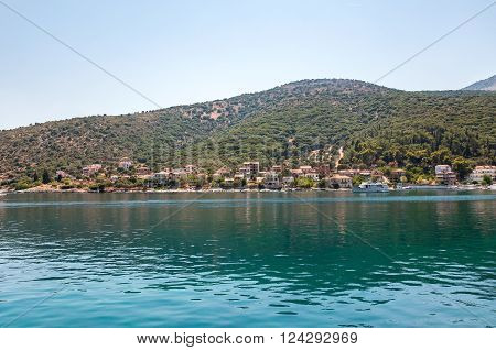 View of Agia Effimia village on Kefalonia Greece