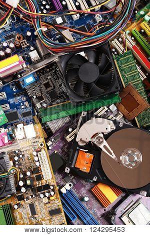 Computer parts, close up
