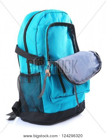 School backpack, isolated on white