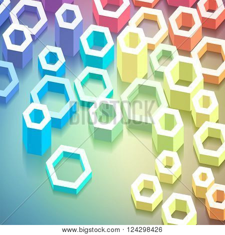 Colorful geometric abstract background, vector eps 10 illustration