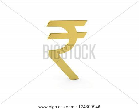 Indian Rupee Symbol Model - 3D Rendered Image