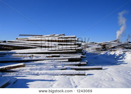 Winter At The Lumber Mill