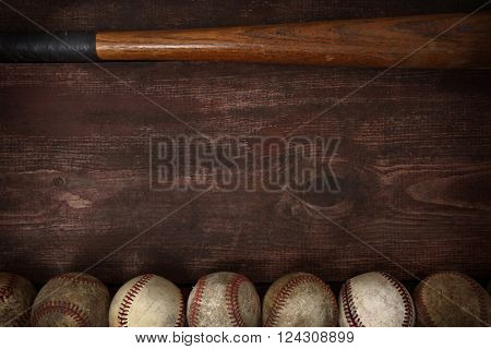 Old vintage baseball background