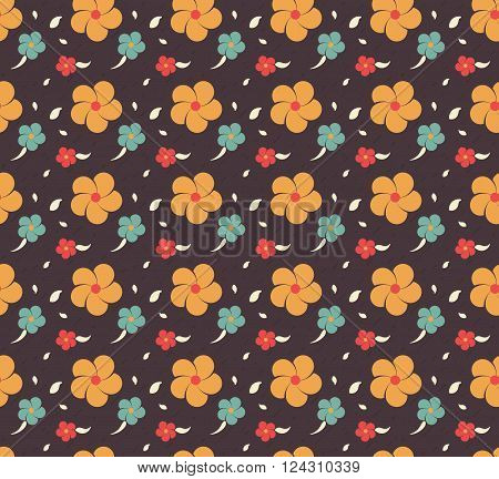 flower seamless pattern. seamless flower background. flower repeatable background. flower textile. vector stock.