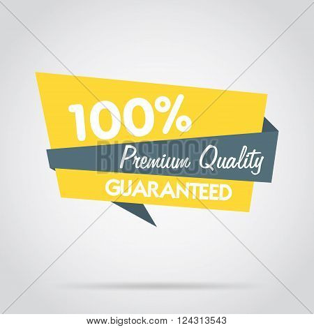 Premium quality stamp flat vector illustration. Design of ad offer stamp. Premium quality stamp. Premium quality sticker. Promo offer. Premium quality badge. Special offer stamp. Premium quality label. Vector icon of premium quality.