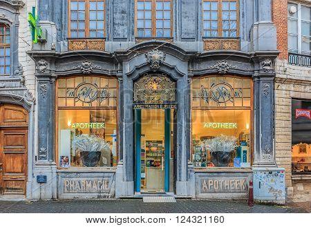 Ornate Pharmacy Store Front